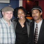 ©2002 Woodrow Cook, Jr. Guest artists, Lindsay Stone (left) and Edward White (right) pose with Maura Gale (center).