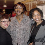 "©2002 Woodrow Cook, Jr. Safari Speaks November 2002 Premiere, ""Happy Birthday Party for ABC 33/40's Valorie Carter."" Pictured l. to r. are Kim Patton of Leslie Patton & Associates, Guest Spoken Word Artist, Yogi, and Featured Artist, TV/Film Actress and Spoken Word Recording Artist, Maura Gale."